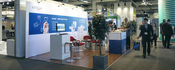 Messestand solique 560x224px