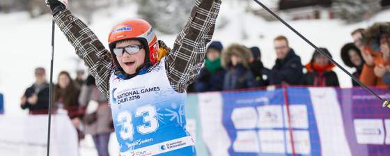 Impression of the «alpine skiing discipline» during the Special Olympics «National Winter Games» on March 4, 2016 in Chur (Image: PHOTOPRESS/Dominik Baur)